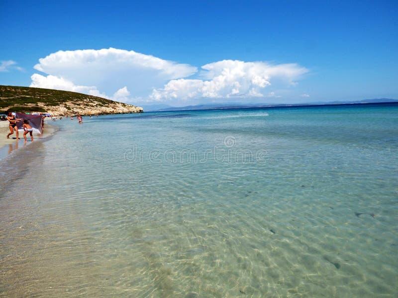 意大利,撒丁岛, Sant Antioco, Coaquaddus海滩 库存图片