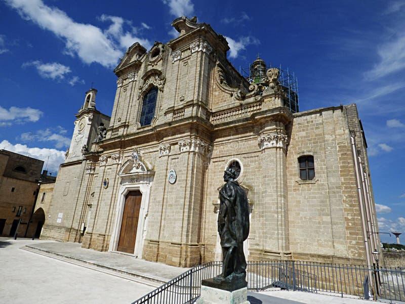 意大利,普利亚,布林迪西, Oria,大教堂大教堂 免版税图库摄影
