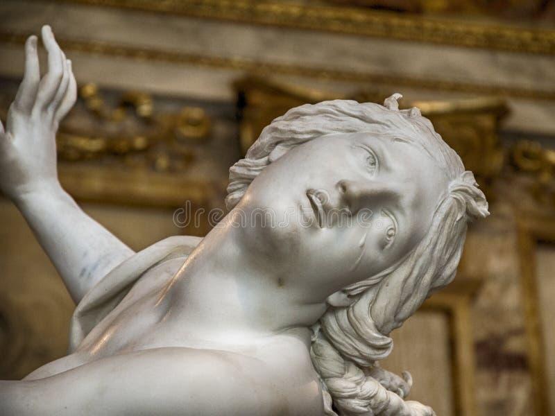 意大利,罗马,圆顶场所Borghese, Proserpina强奸贝尔尼尼,细节2 库存照片