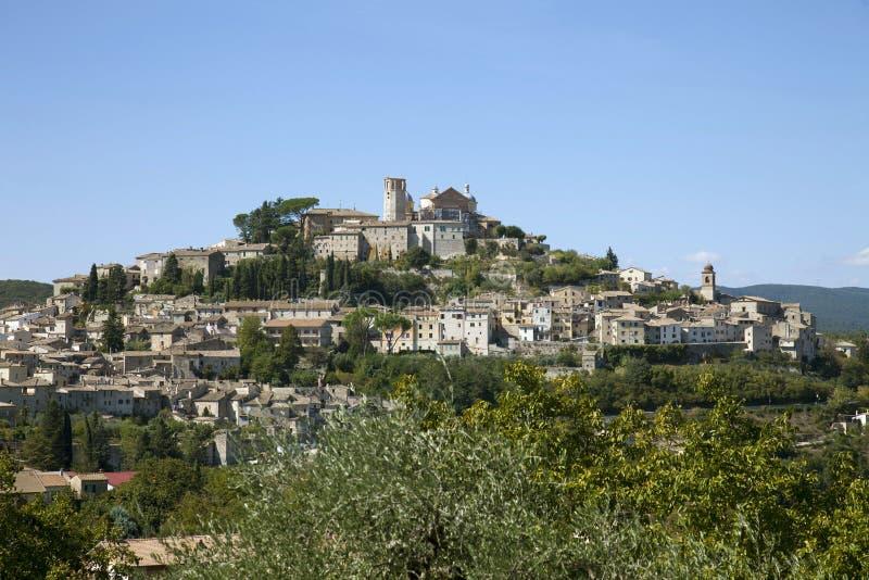 意大利,翁布里亚,阿米莉雅村庄 库存图片