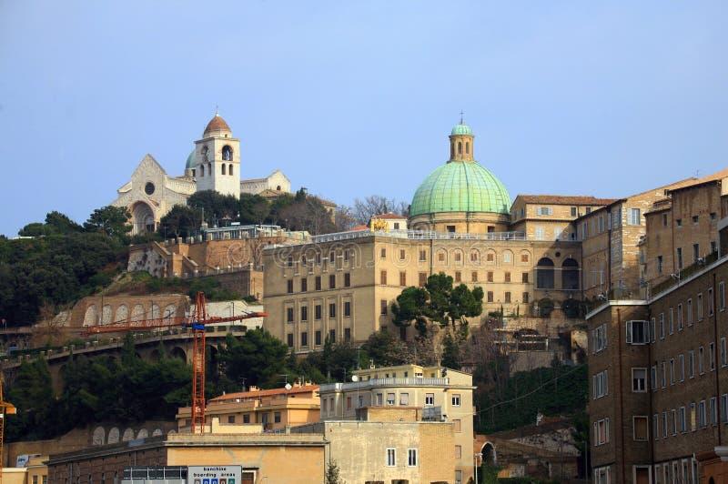 意大利,马尔什,安科纳 免版税库存照片
