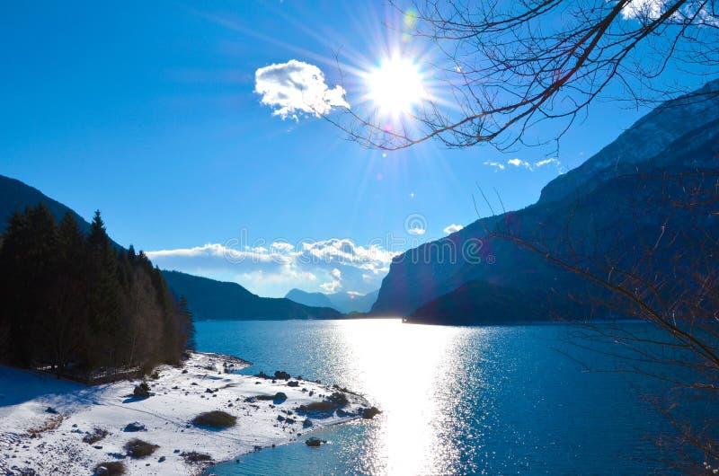 意大利, molveno湖 免版税库存图片