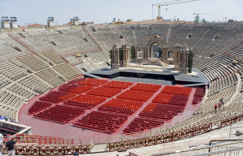 意大利, Veronese圆形剧场竞技场二维罗纳 库存照片