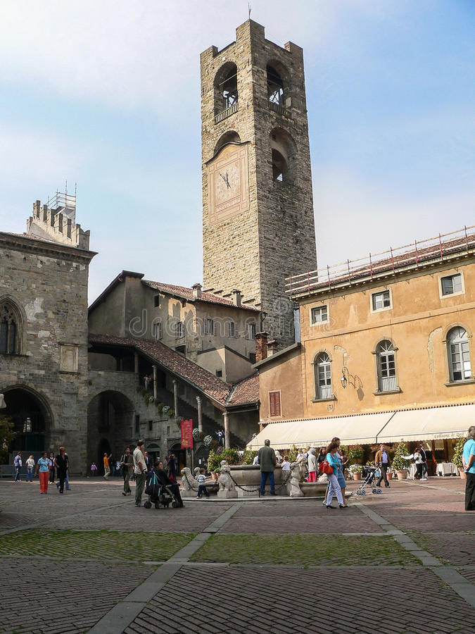 意大利 贝加莫 免版税库存照片