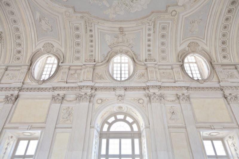 意大利-皇宫: galleria di戴安娜, Venaria 库存照片