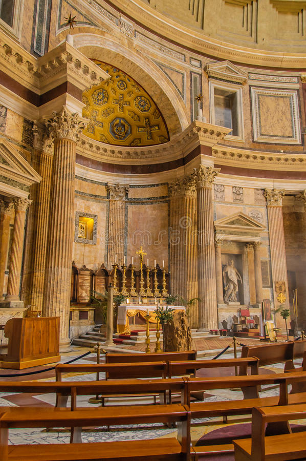 意大利-罗马-万神殿 库存图片