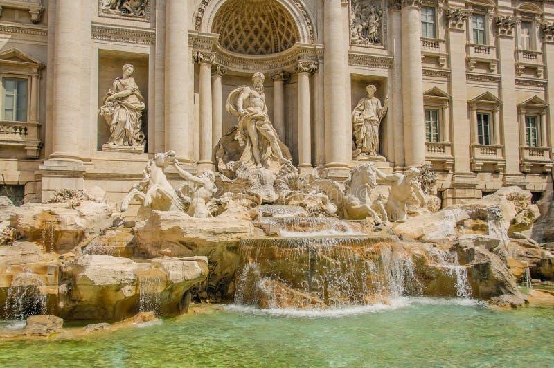 意大利-罗马- Trevi喷泉 库存照片