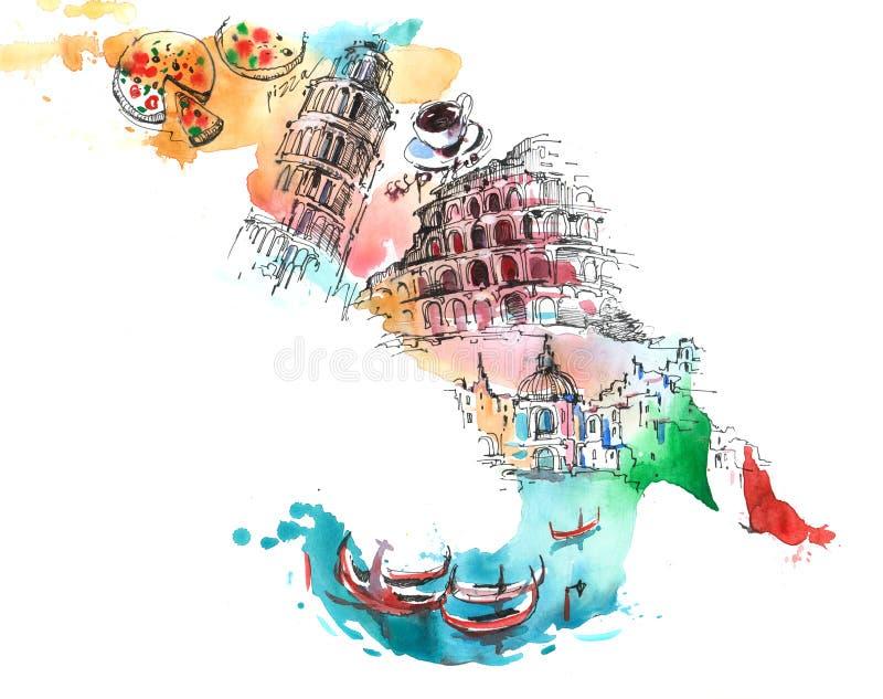 意大利 向量例证