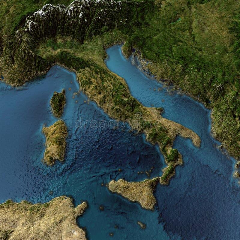 意大利3d映射 皇族释放例证