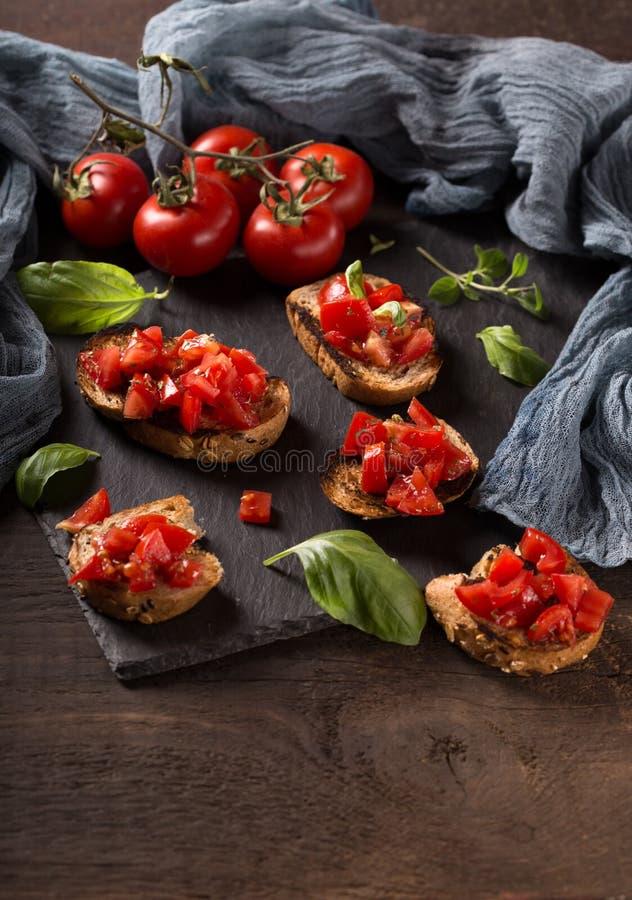 意大利bruschetta,开胃菜 图库摄影
