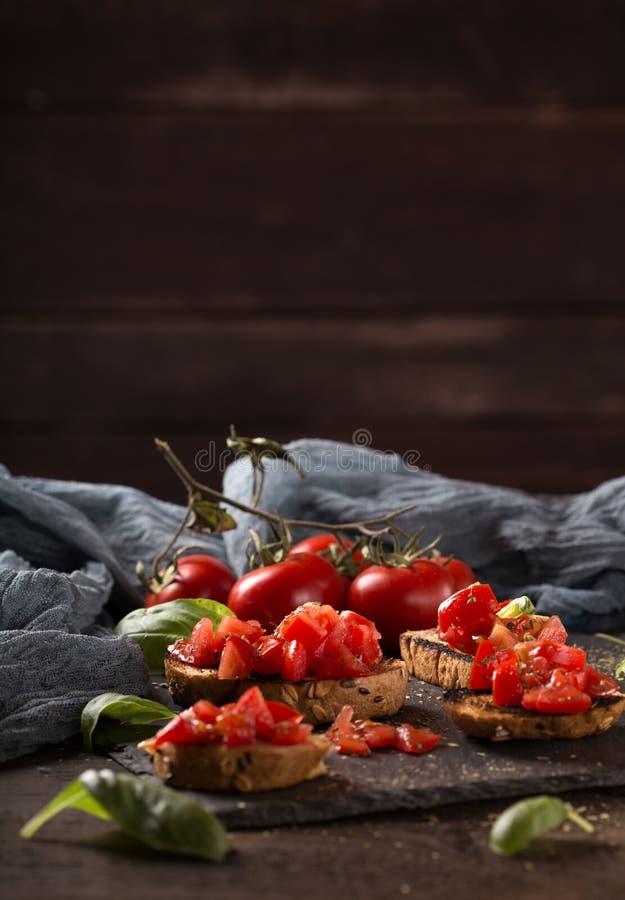 意大利bruschetta,开胃菜 免版税库存图片