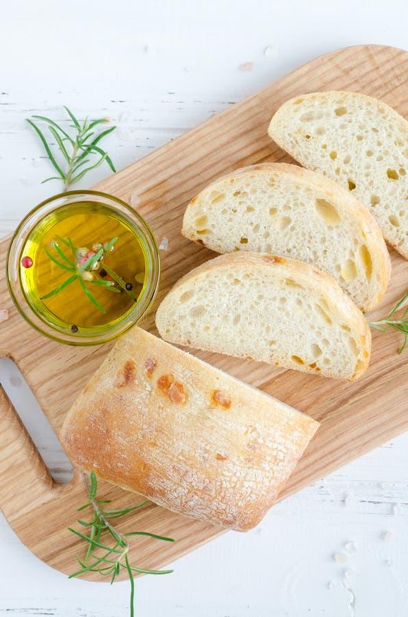 意大利ciabatta面包 免版税库存图片