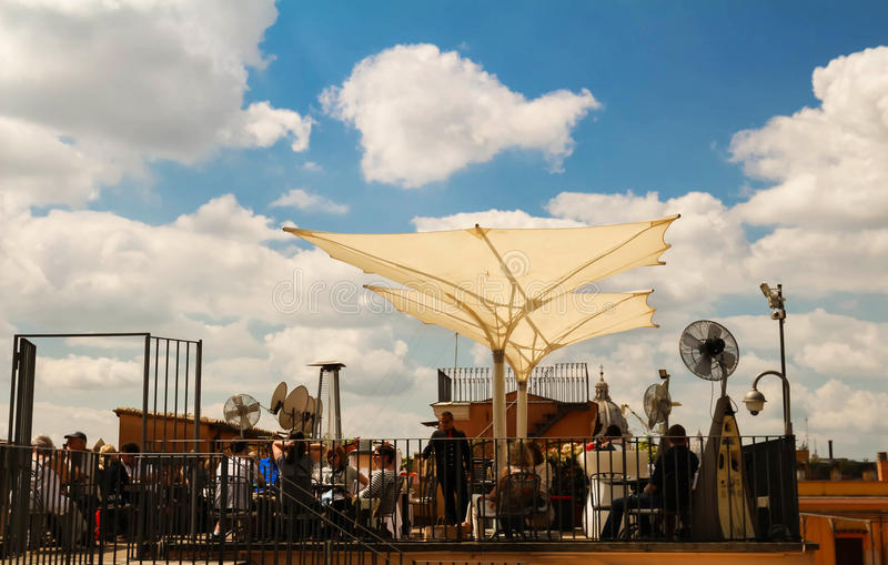 意大利coctail酒吧Il Palazetto,罗马,意大利 库存图片
