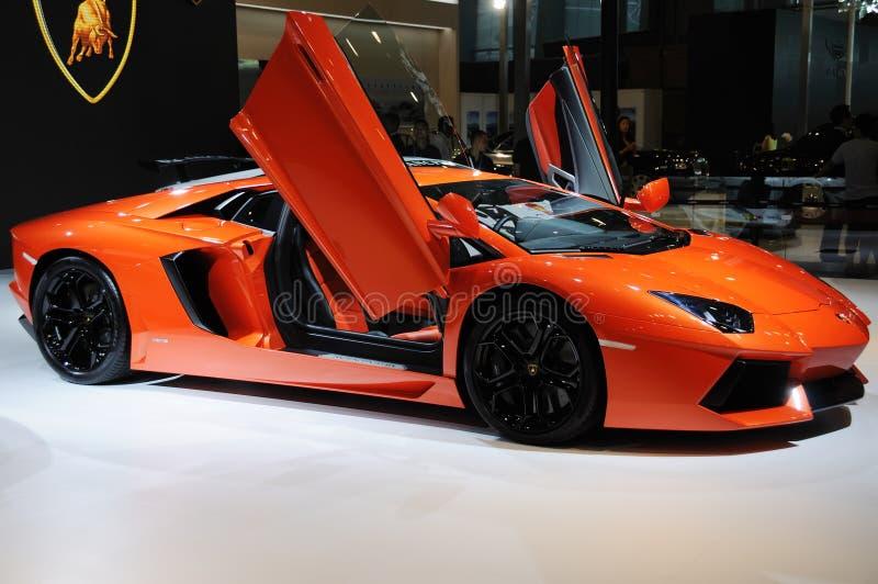 意大利Lamborghini Aventador LP 700-4 免版税库存图片