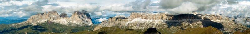 意大利marmolada山全景 库存图片