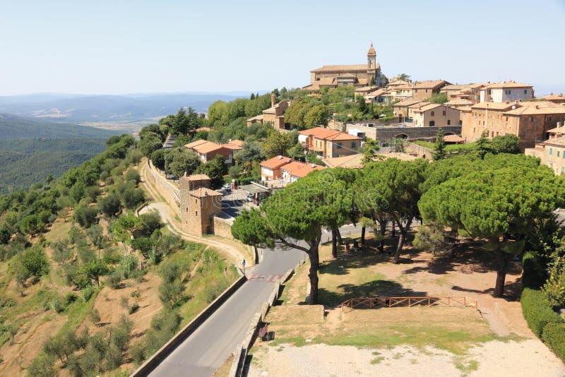 意大利montalcino托斯卡纳 免版税库存图片