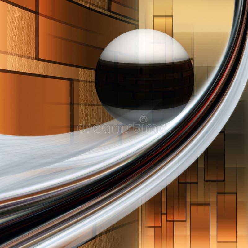 意想不到的典雅的波浪背景设计例证 向量例证
