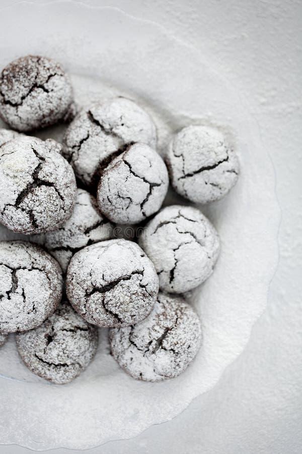 意想不到的巧克力曲奇饼 免版税库存图片