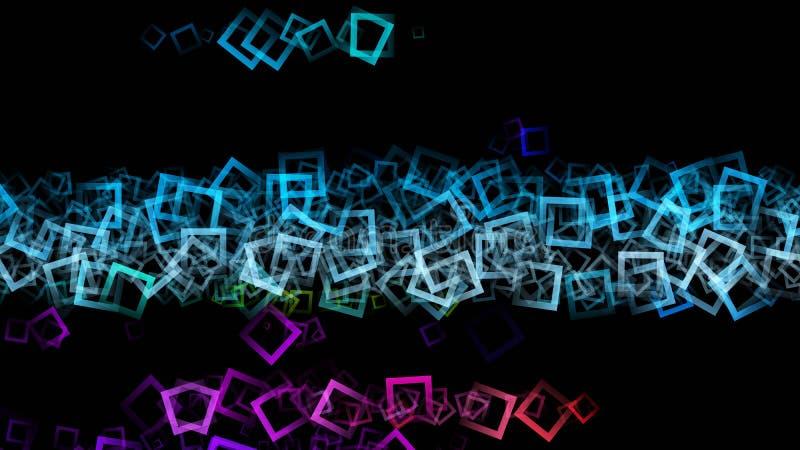 意想不到的抽象方形的背景设计 向量例证