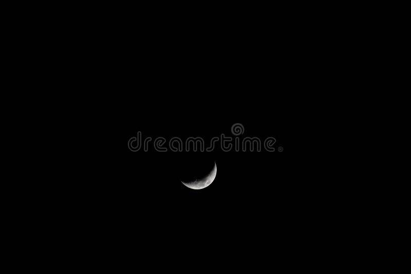 意想不到的月亮,只有满月脸的部分被阐明 图库摄影