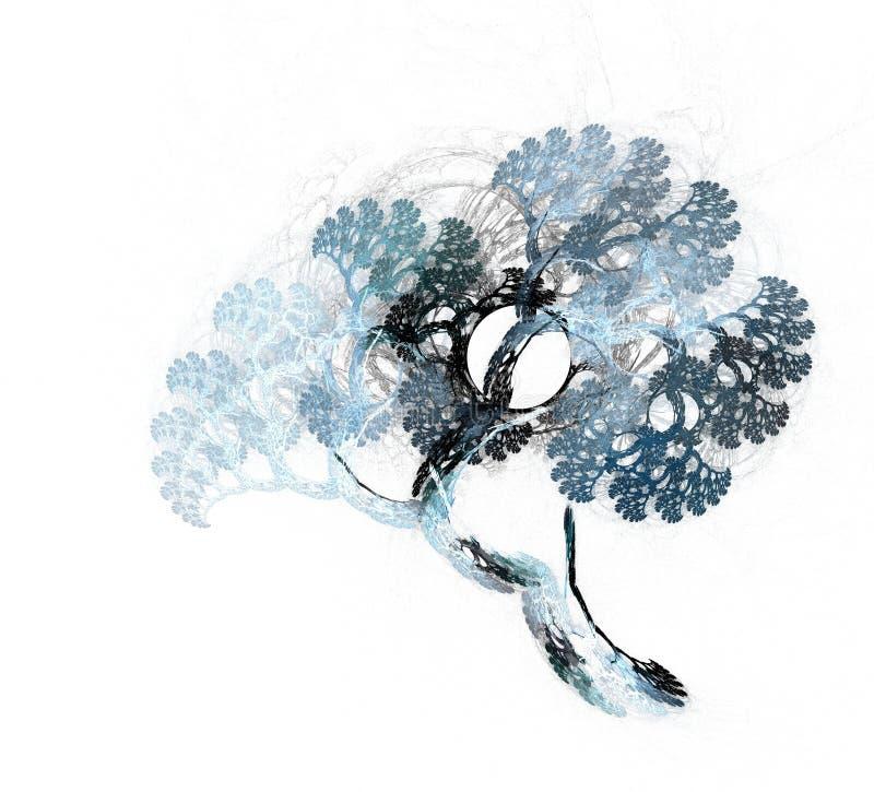 意想不到的树的分数维例证 美妙和分数维样式 库存例证