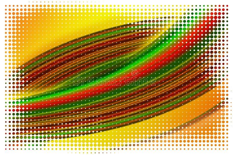 意想不到的波浪背景设计例证 库存例证