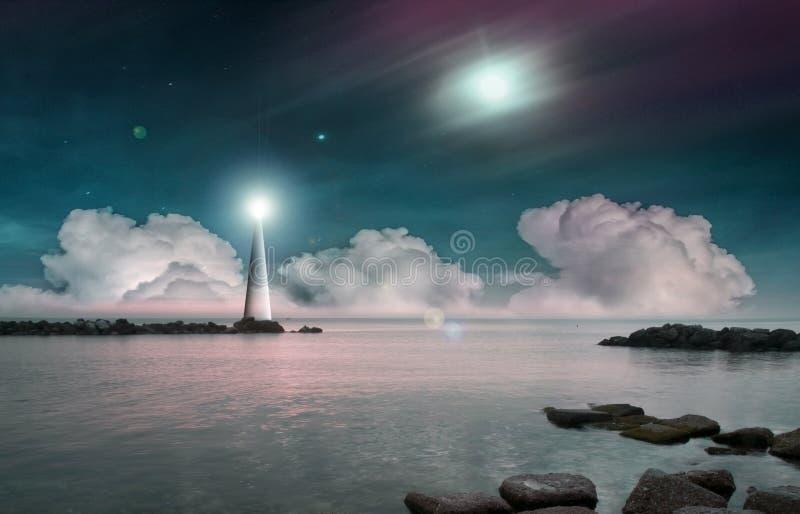 意想不到的海风景 库存照片