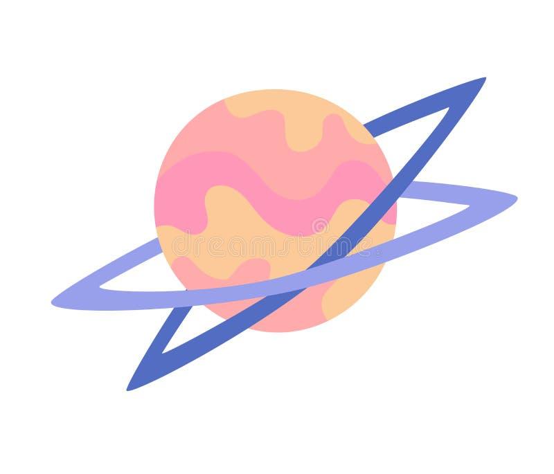 意想不到的滑稽的行星传染媒介例证 向量例证