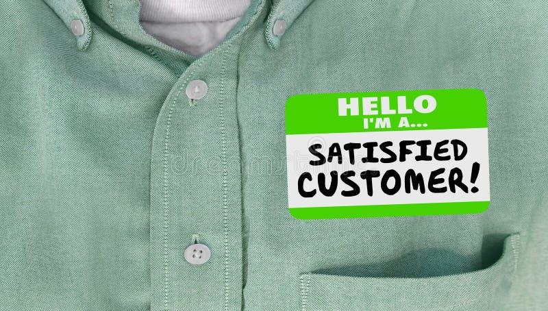 满意的顾客愉快的客户名牌衬衣 库存例证