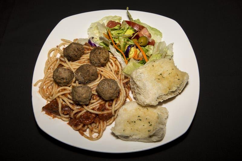 意粉和肉调味汁 免版税库存图片
