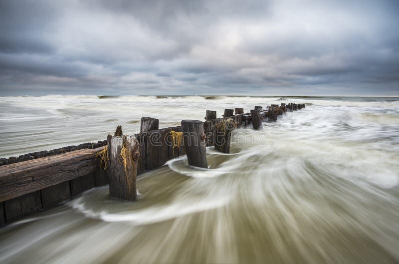 愚蠢海滩南卡罗来纳查尔斯顿SC海景 免版税库存图片