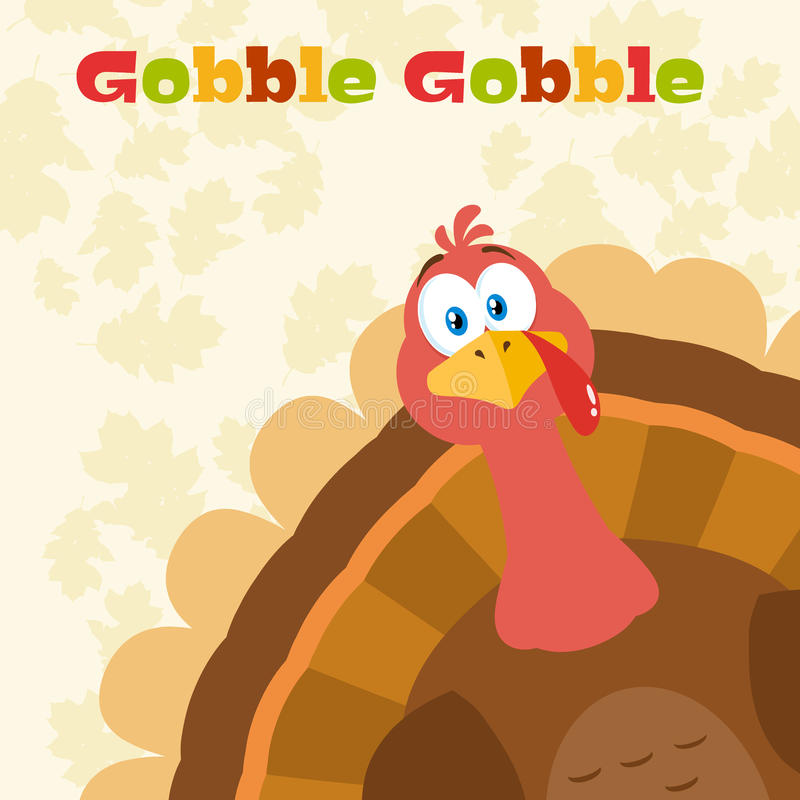 感恩土耳其鸟动画片偷看从角落的吉祥人字符 皇族释放例证