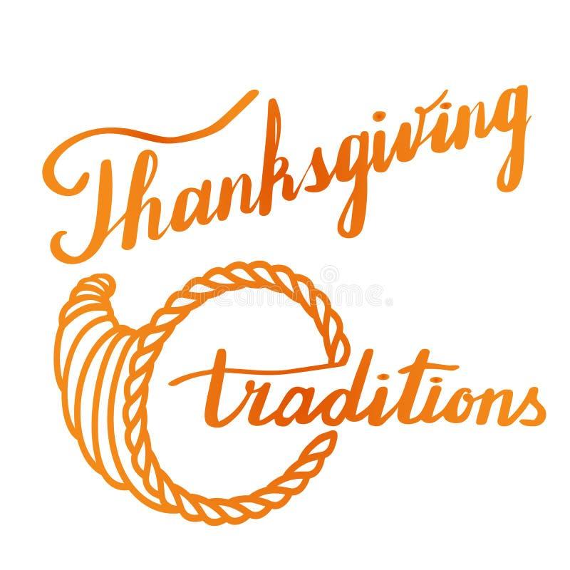 感恩手字法和书法设计 皇族释放例证