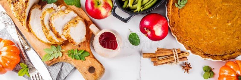 感恩节食物 免版税库存照片