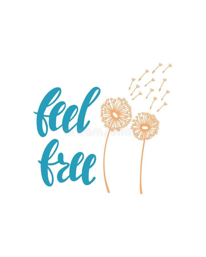 感觉关于幸福的自由激动人心的行情 向量例证