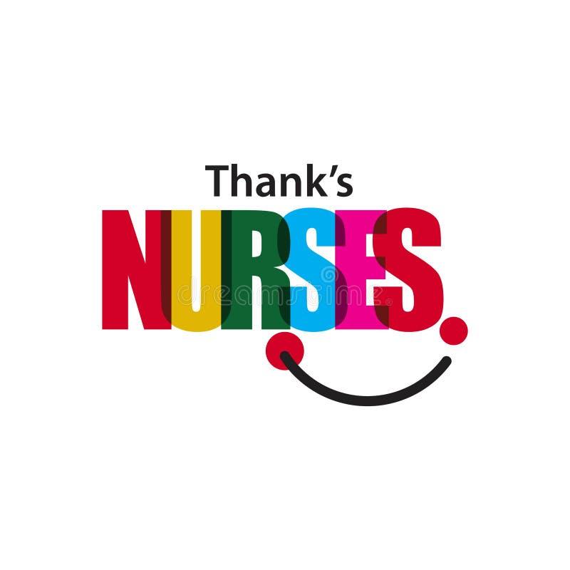 感谢护士导航模板设计例证 免版税库存图片