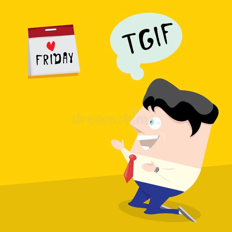 感谢神它是星期五概念 我爱星期五 库存例证