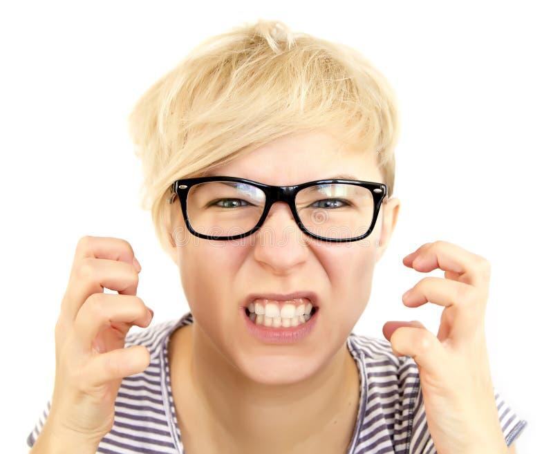 愤怒的妇女 免版税库存图片