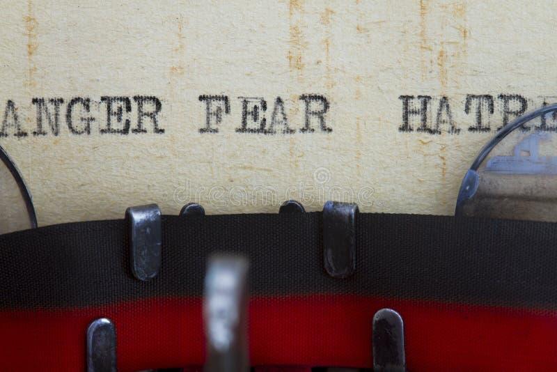 愤怒仇恨和恐惧 免版税库存图片