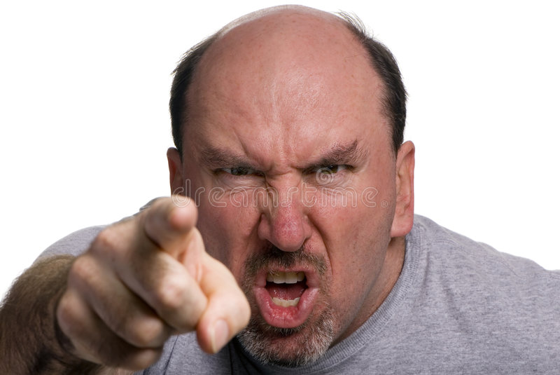 愤怒 免版税图库摄影