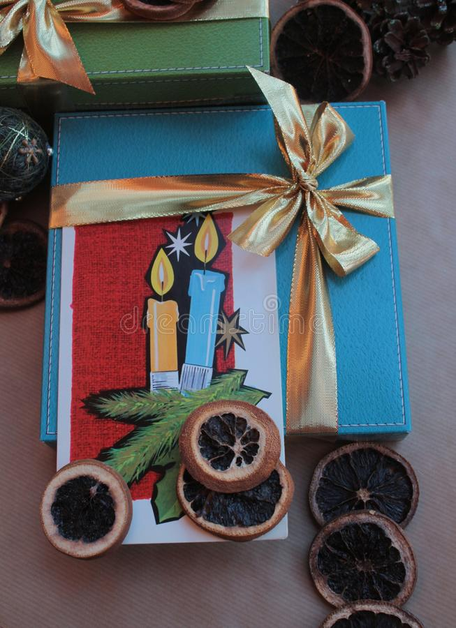 愿望圣诞快乐和新年快乐 库存图片