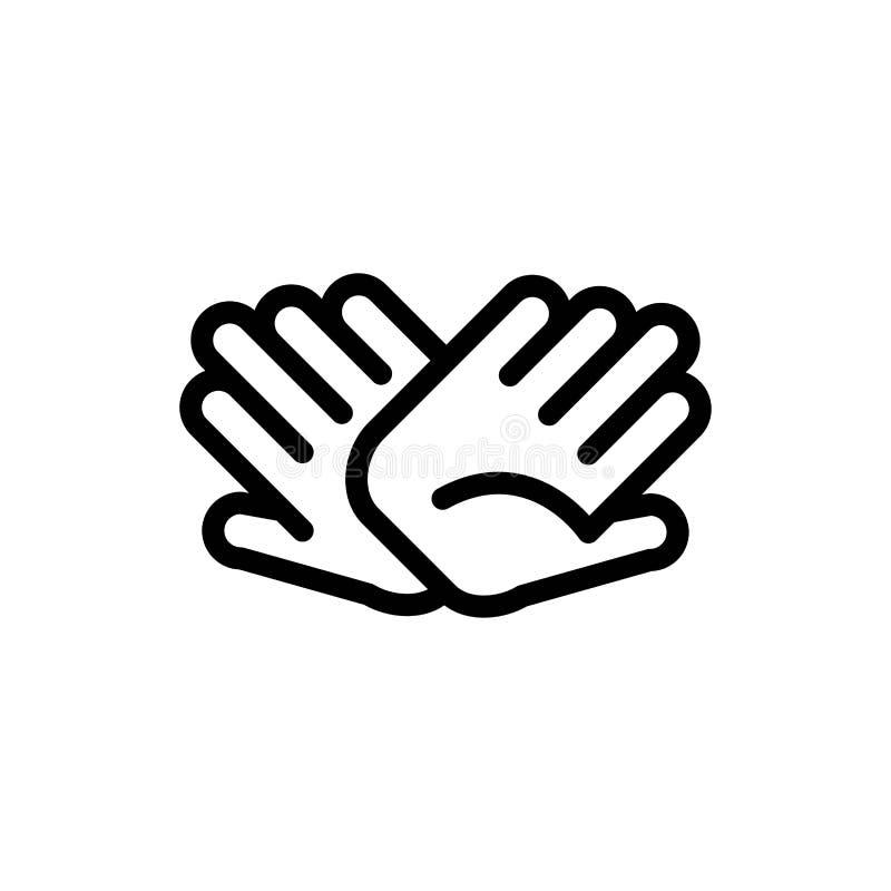 慈善、手,帮助,蓝色帮助的联系和红色下载和现在买网装饰物卡片模板 皇族释放例证