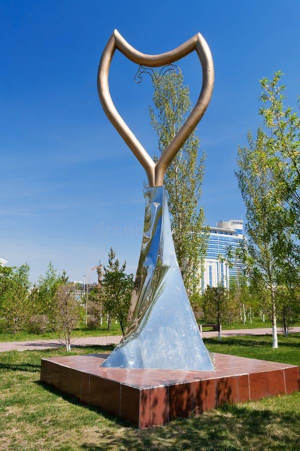 慈善和慈悲Altyn Zurek的纪念碑在阿斯塔纳 库存照片