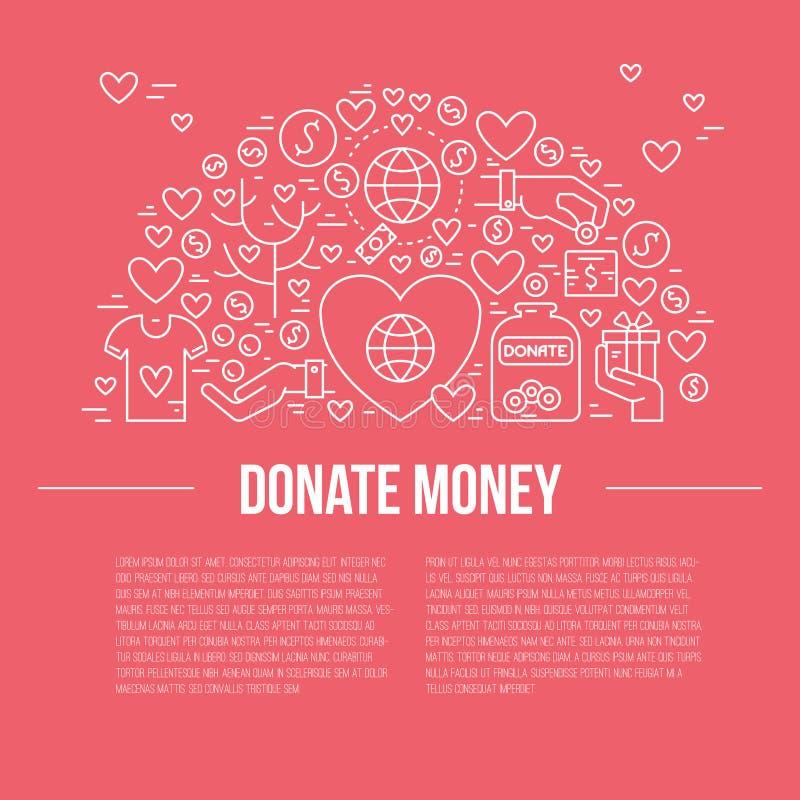 慈善横幅 向量例证