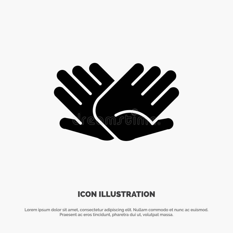慈善,手,帮助,帮助,联系坚实纵的沟纹象传染媒介 库存例证