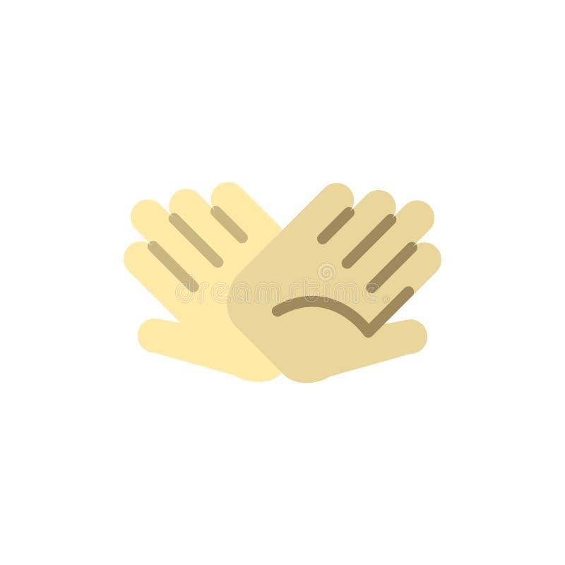 慈善,手,帮助,帮助,联系平的颜色象 传染媒介象横幅模板 皇族释放例证