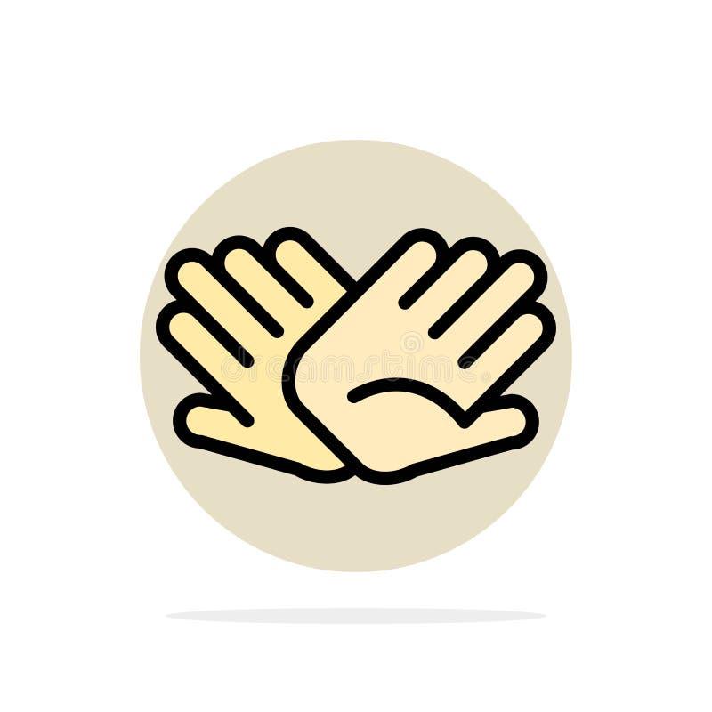 慈善,手,帮助,帮助,联系提取圈子背景平的颜色象 皇族释放例证