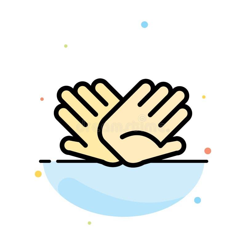 慈善,手,帮助,帮助,联系提取平的颜色象模板 向量例证