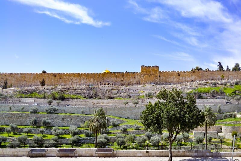 慈悲门在耶路撒冷耶路撒冷旧城的圣殿山的东边  免版税库存图片