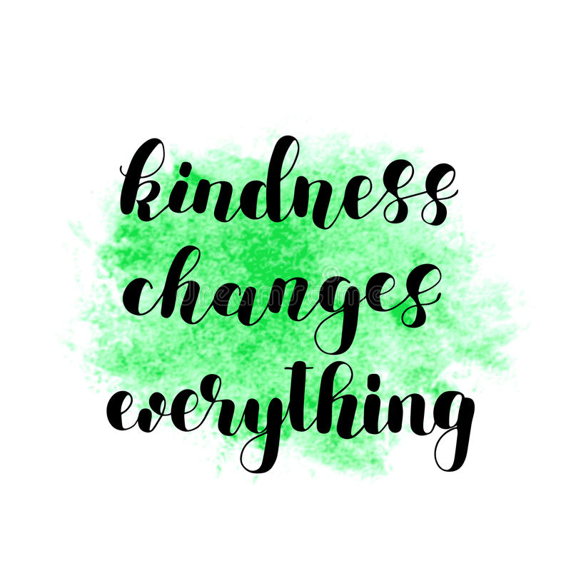 仁慈改变一切 库存例证